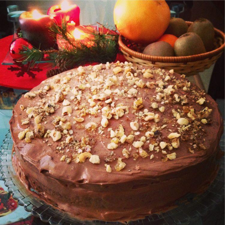 Торта с течен шоколад и маскарпоне