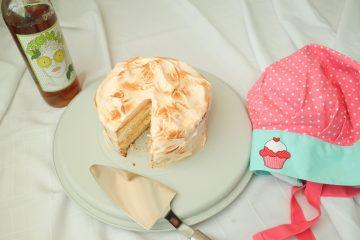 торта пламък със сироп от бъз
